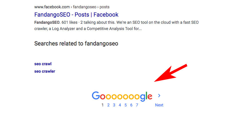 example of Pagination on Google search results