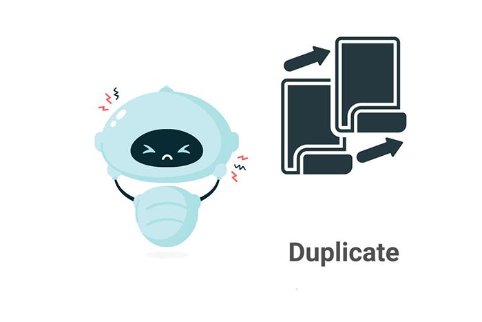 duplicate content robot